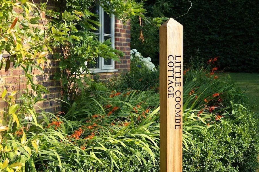 personalised wooden sign posts