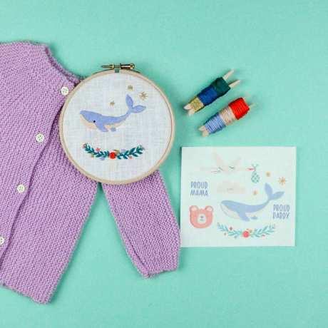 kit de broderie baby make me stitch kit broderie diy