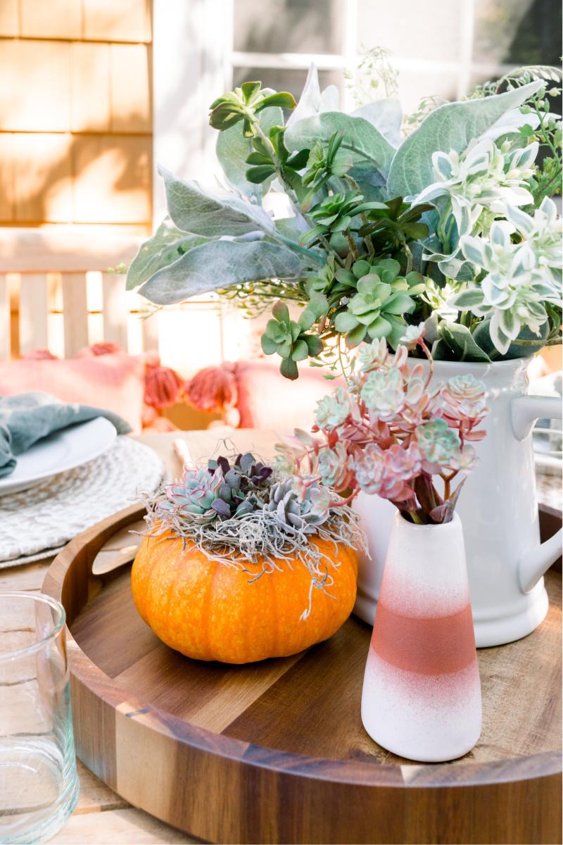 Fall Outdoor Table Centerpiece