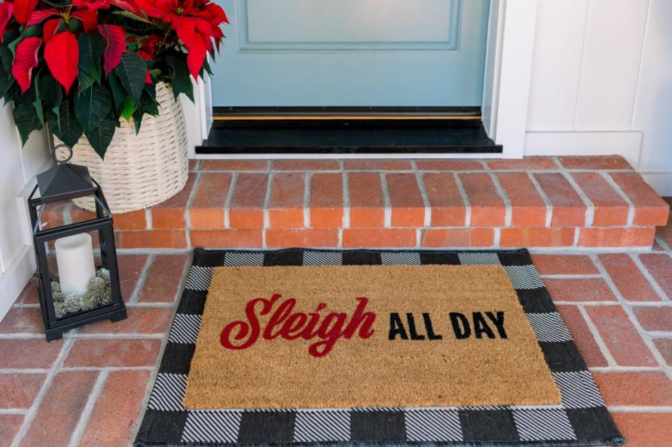 Layered Door Mat for Christmas