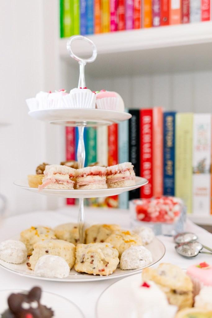Tea. Tray and Cookbooks