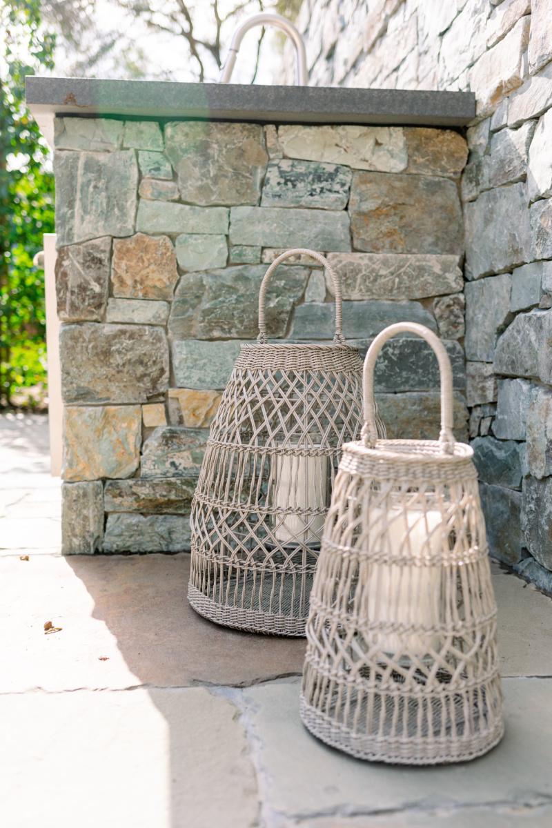 Wicker Outdoor Lanterns