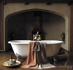 Bathtub and Fireplace by decorology (Flickr)