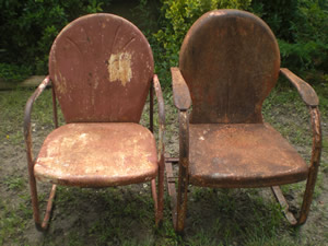 antique lawn chairs yellow and grey chair uk make mine eclectic http cgi ebay com vintage pair metal