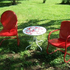 Antique Lawn Chairs Flipping High Chair Upside Down Paint Project Make Mine Eclectic