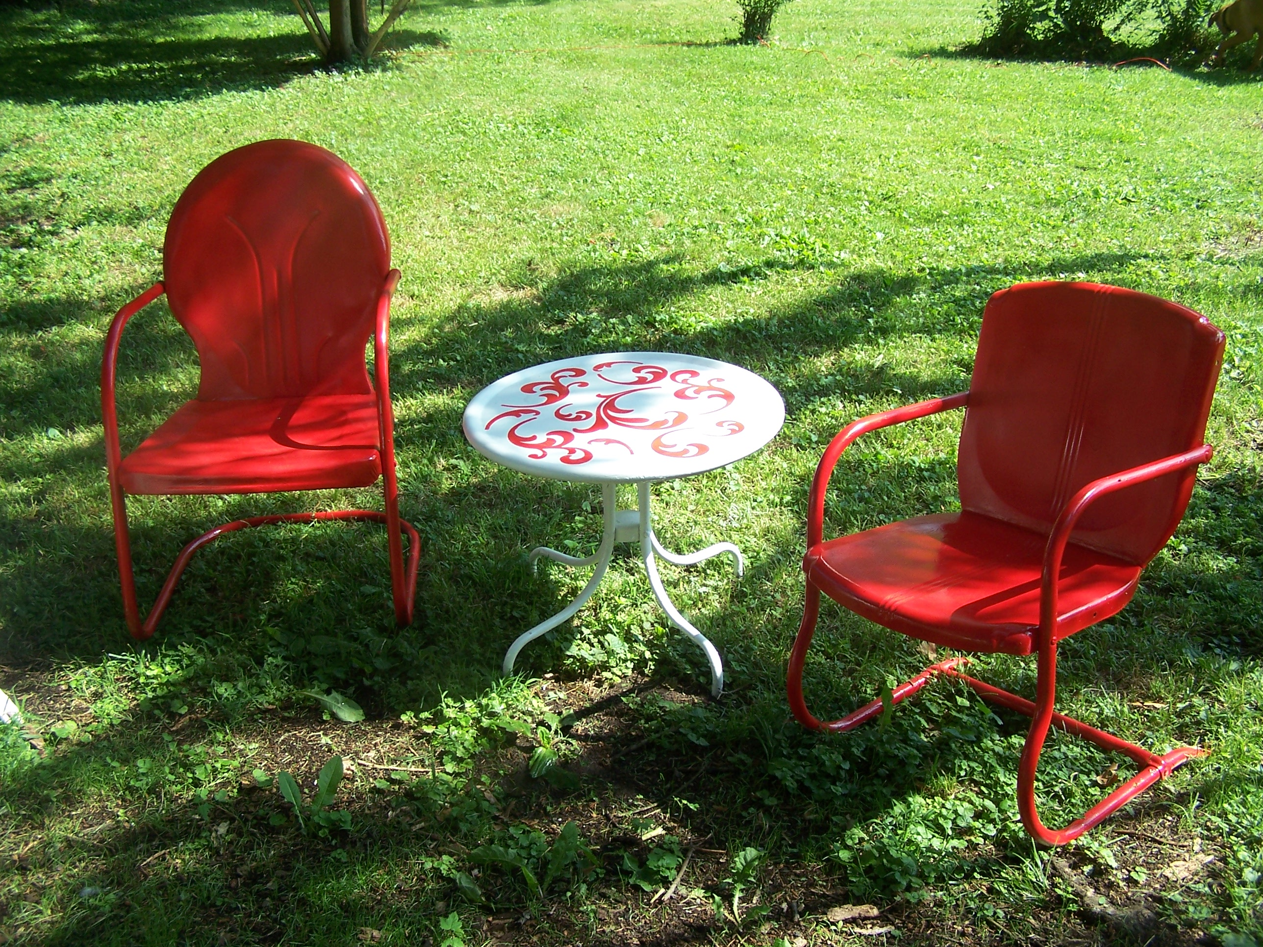 Retro Lawn Chairs Lawn Chair Paint Project Make Mine Eclectic