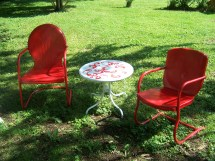 Lawn Chair Paint Project Make Eclectic
