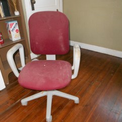 Red Desk Chair No Wheels Waterless Pedicure Chairs Redo Make Mine Eclectic