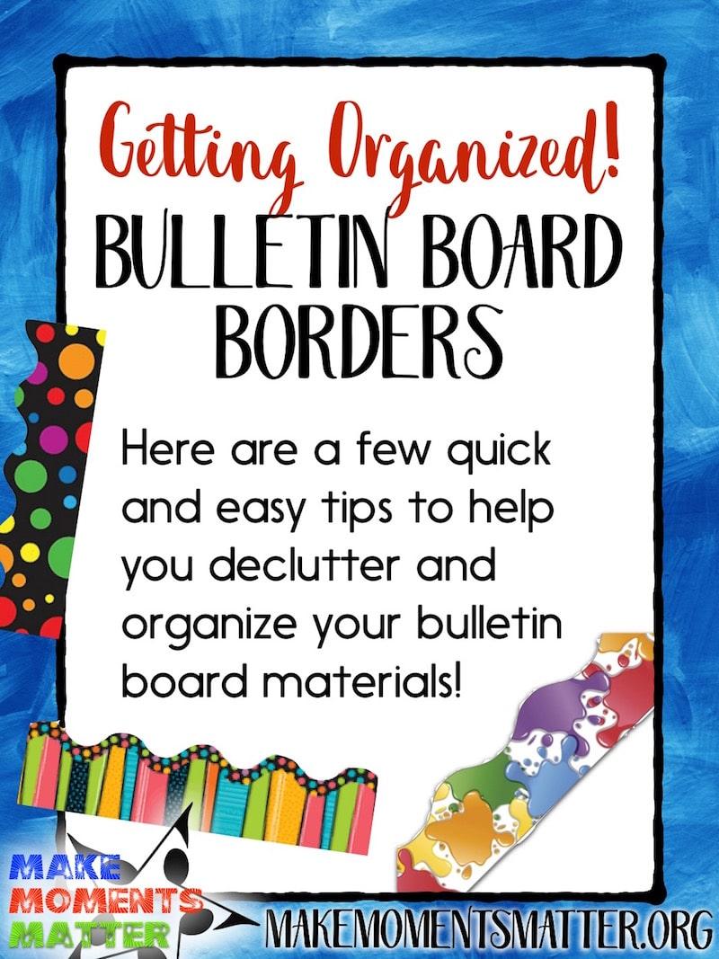 bulletin board borders organized
