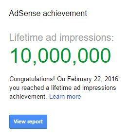 10 million ad impressions