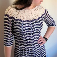 Chevron stripes 3-season sweater