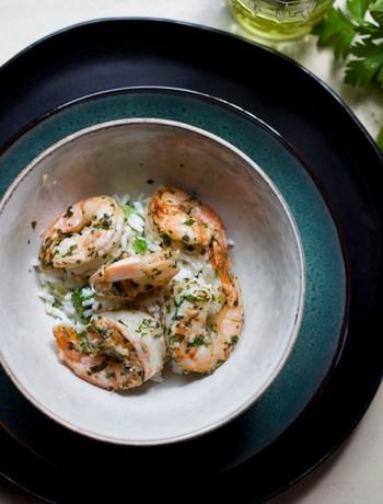 Garlic Basil Shrimp