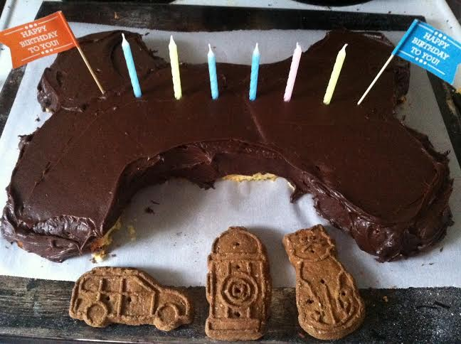 And No Izzy Did Not Get To Eat Any Of The Chocolate Frosted Part But I Give Her Some Cake Cut Outs From Edge Bulldog Bday