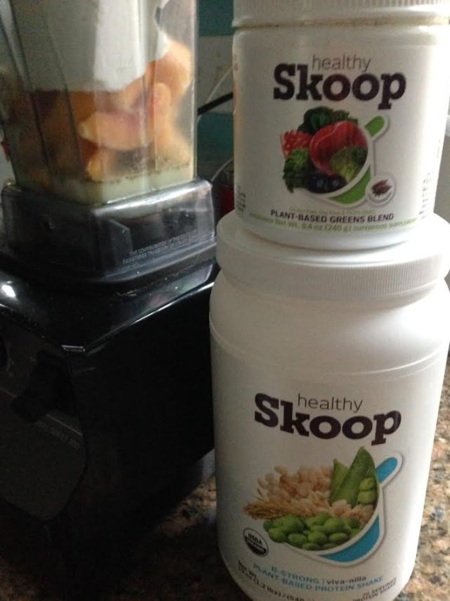healthy skoop with blend
