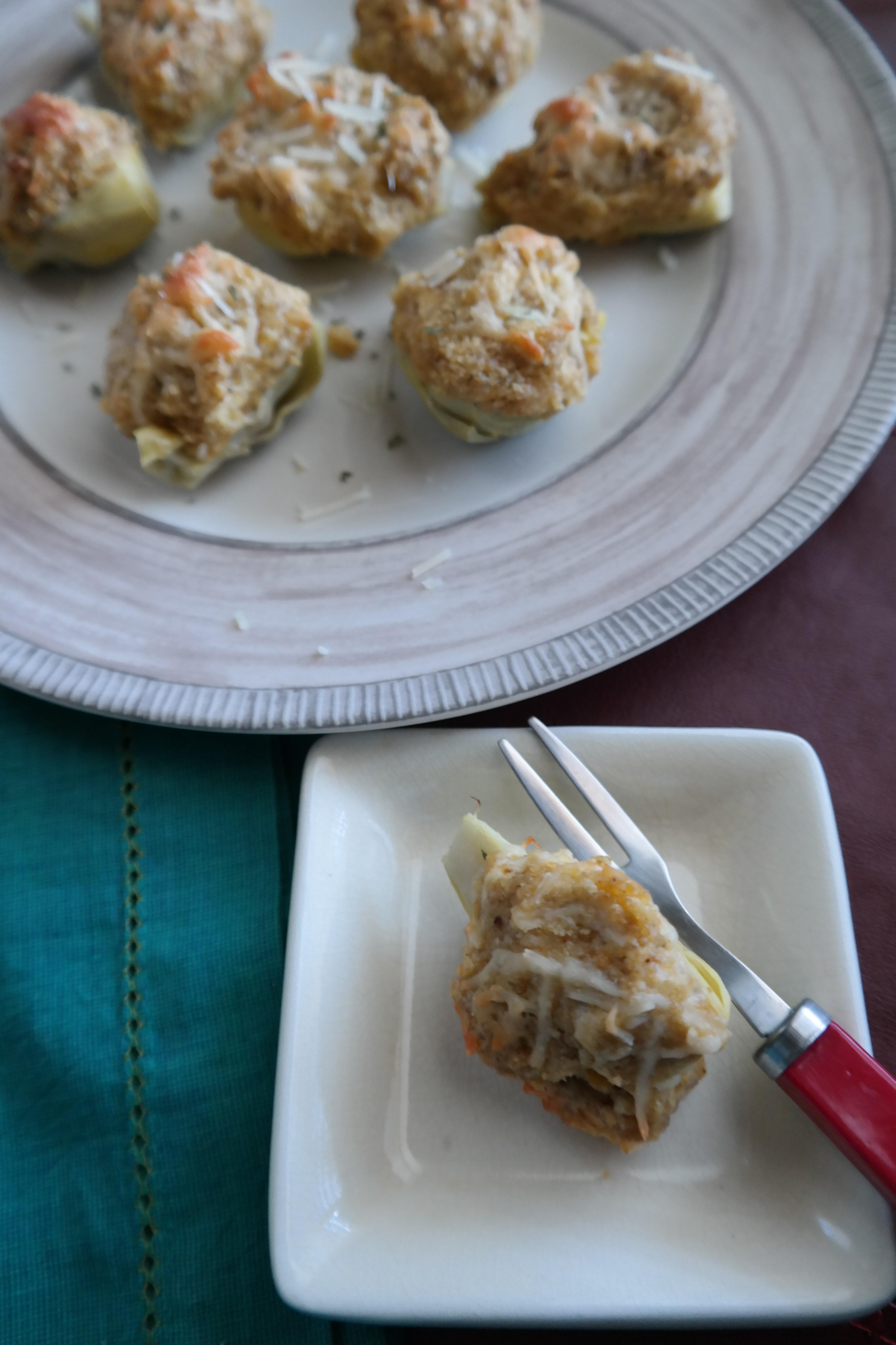 Fried Oyster Stuffed Artichokes