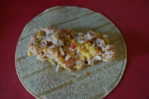 Filling for Leftover Crawfish Etouffee Enchiladas