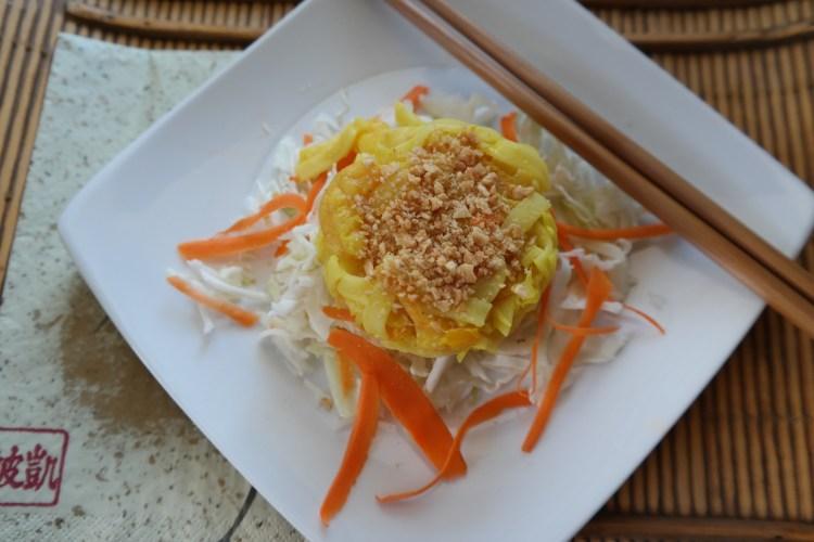 Orange Coconut Curry Shrimp Stacks