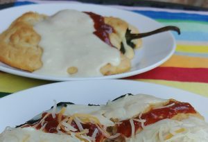 Baked Ham & Cheese Chiles Rellenos