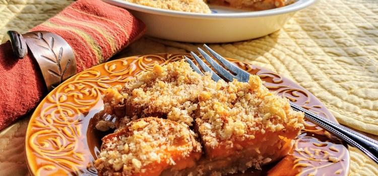 Leftover Cinnamon Roll Sweet Potato Casserole