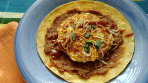 Hearty Southwest Egg and Leftover Rice Breakfast Tostada