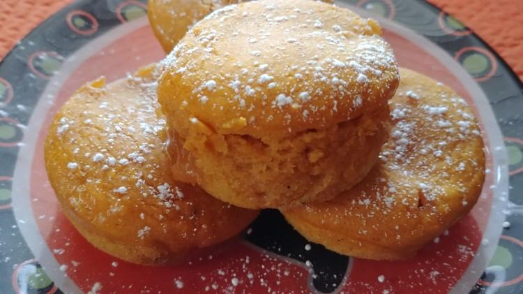 "Marshmallow ""Surprise"" Pumpkin Muffins"