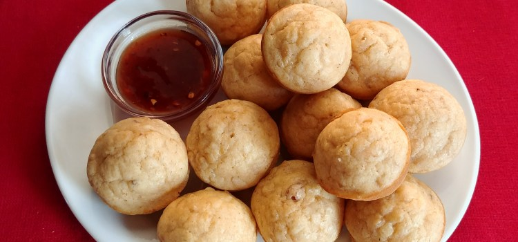 Leftover Jambalaya Muffins with Sweet-n-Spicy Dipping Sauce