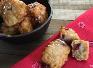 Lemon Cranberry Leftover Rice Fritters