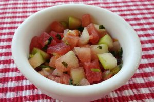 Watermelon Rind Salsa