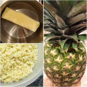 Pineapple Core Pina Colada Rice