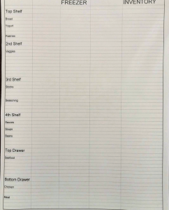 Food Waste Inventory Sheet