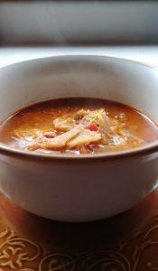 Leftover Enchilada Soup