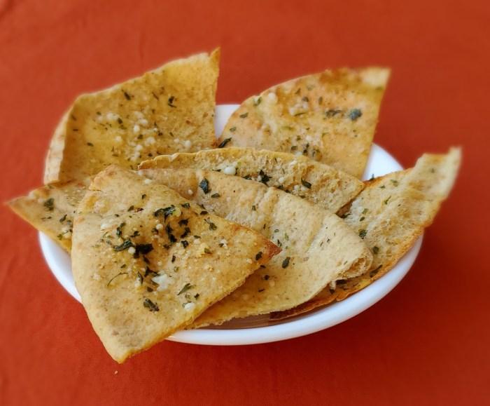 Orange Parmesan Pita Chips