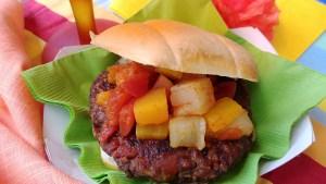 Leftover Baked Bean Burger