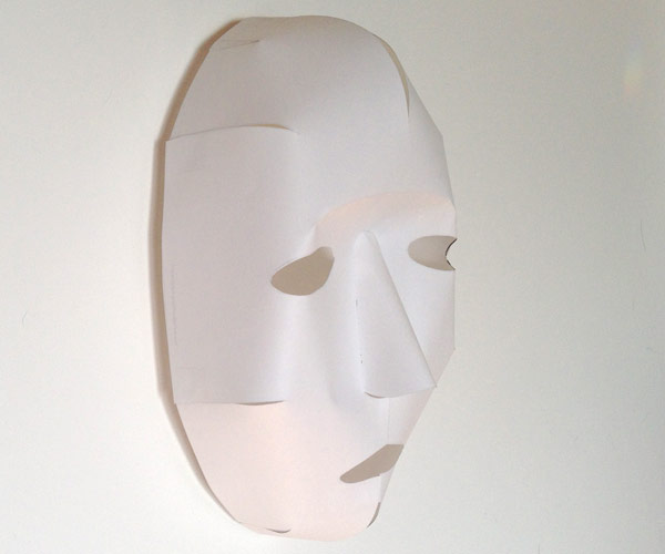 Easy 3D Paper Mask From A Single Sheet Of Paper
