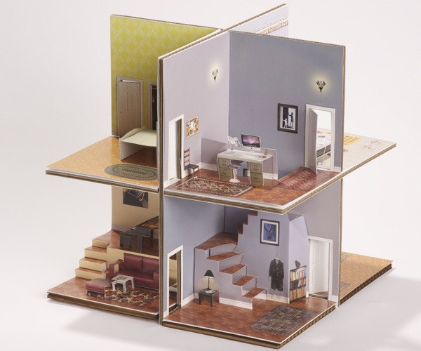 Pop Up Paper House Kit Craft Project