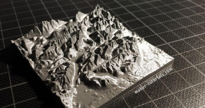3D-Modell der Zugspitze Prusa i3 MK2 Drucker