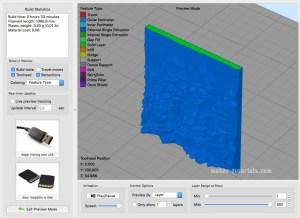 Simplify3D 3D topographische Karte