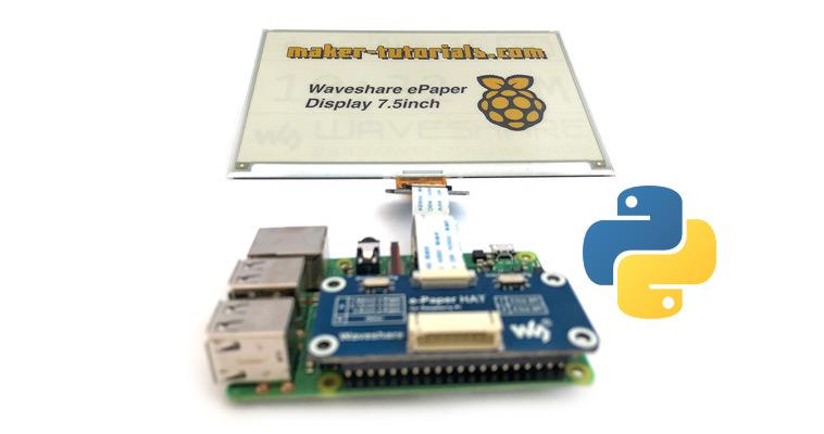 Raspberry Pi Waveshare e-paper display python demo code installieren