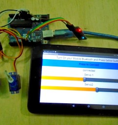 how to control servo motors from a mobile device with an arduino uno and an android app arduino maker pro [ 1500 x 1029 Pixel ]