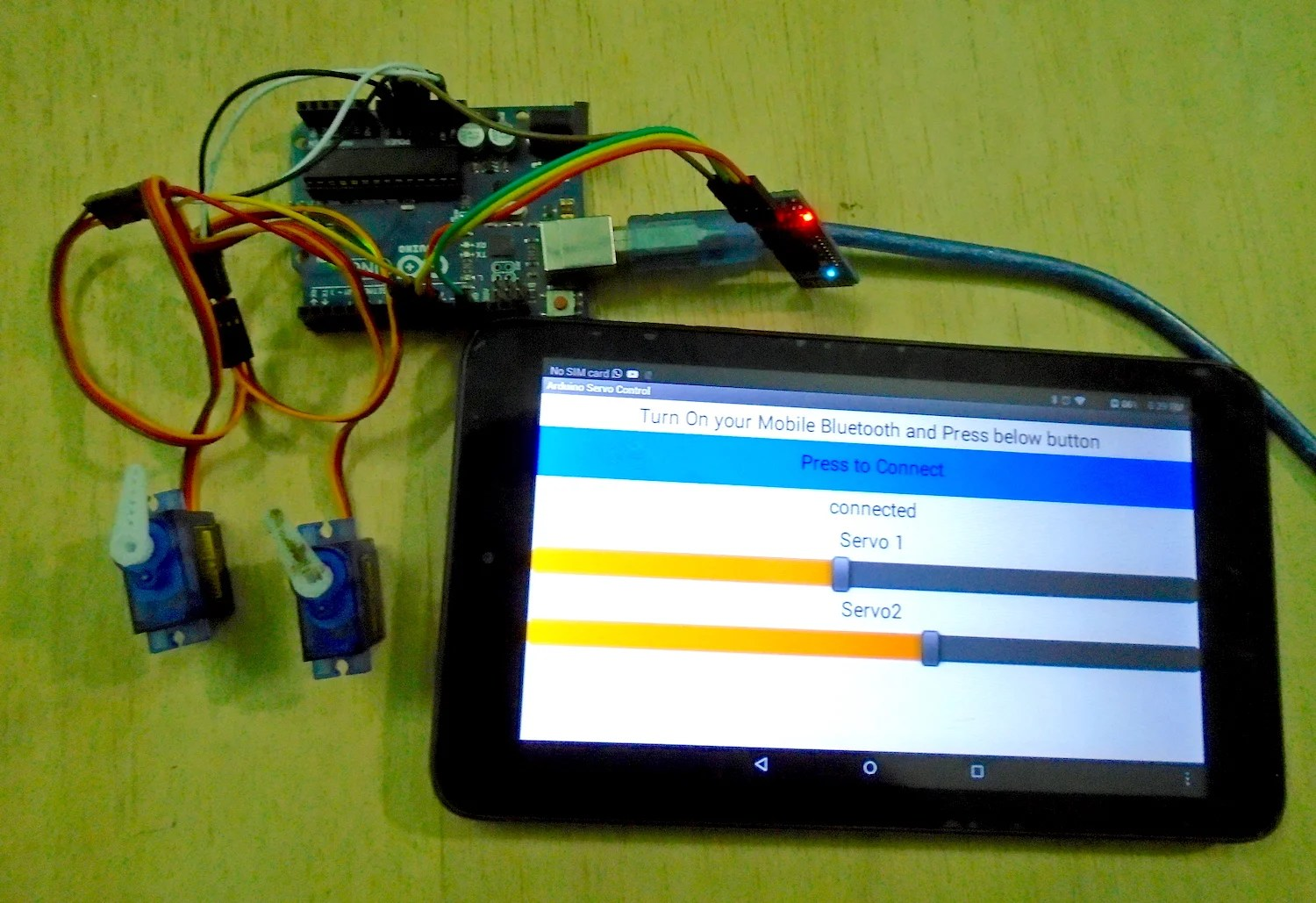 hight resolution of how to control servo motors from a mobile device with an arduino uno and an android app arduino maker pro