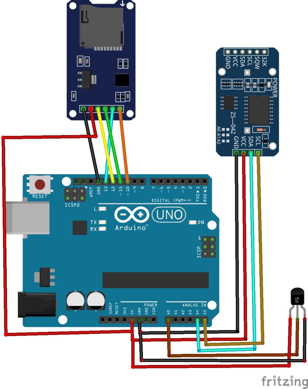 medium resolution of how to make an arduino sd card data logger for temperature sensor sd card with arduino arduino sd card project with circuit diagram