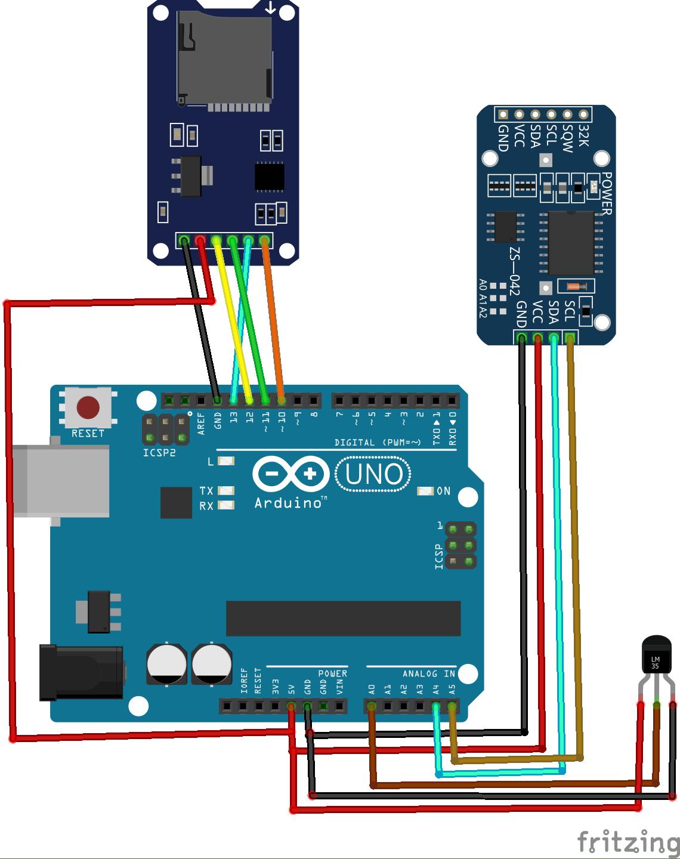 hight resolution of how to make an arduino sd card data logger for temperature sensor sd card with arduino arduino sd card project with circuit diagram