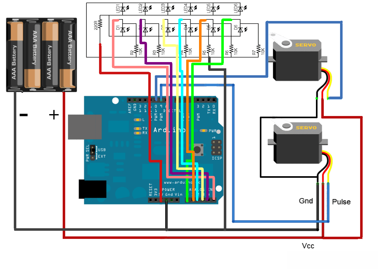 hight resolution of connections for your custom ir sensor array