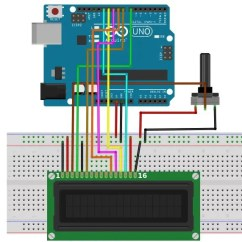 Arduino Lcd Screen Wiring Diagram 2003 Gsxr 600 How To Connect An Display Your Maker Pro Final Connections Between The Potentiometer And Let S Start With Connecting Control Wires
