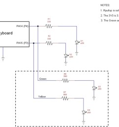 the micropython led flasher device circuit schematic diagram view the full size schematic  [ 1293 x 672 Pixel ]