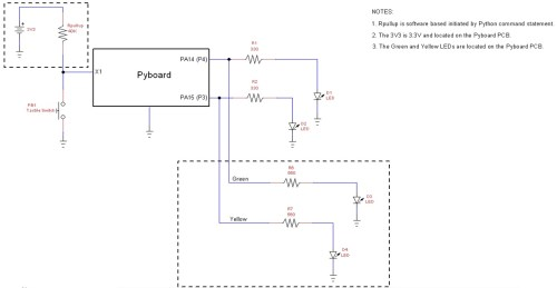 small resolution of the micropython led flasher device circuit schematic diagram view the full size schematic