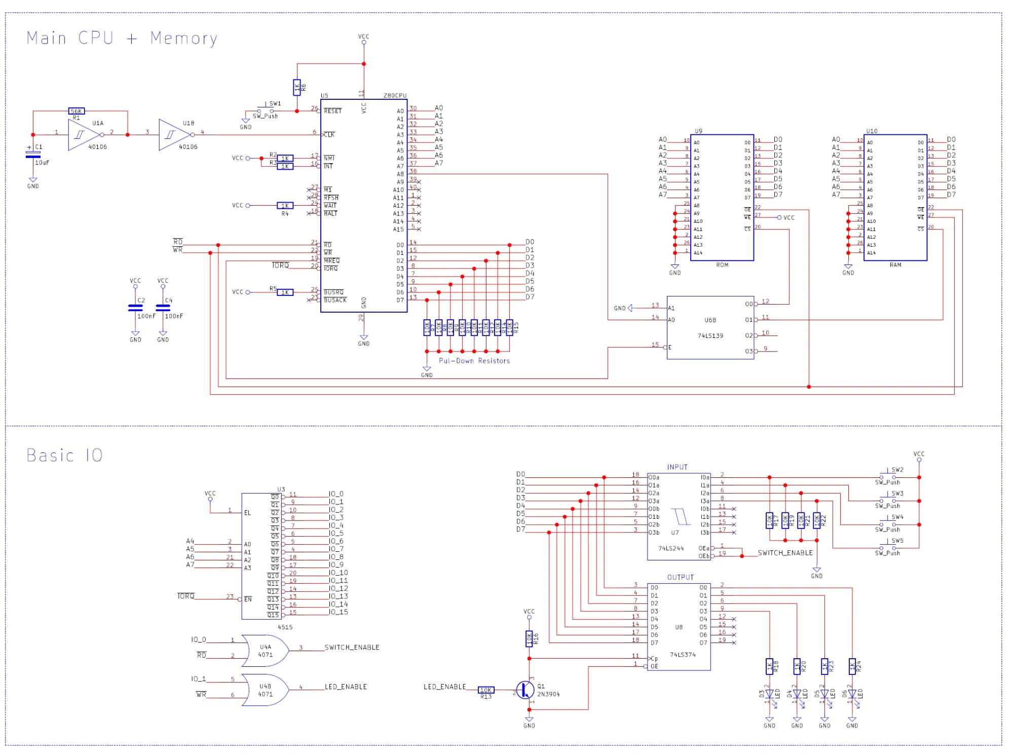Build A Z80 Computer Part 4 Io Amp Coding Your First