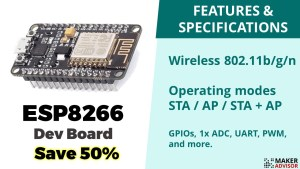 Grab an ESP8266 Dev Board For 50% Off