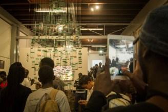 Visitors at the opening. Photo Eric Mukalazi.