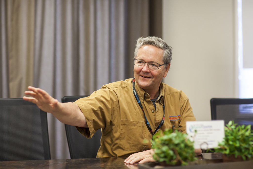 SAN MATEO, CA May 20 2016 - Dale Dougherty, founder of Make Magazine and MakerFaire, speaks during a question and answer session for the media during the 11th Annual Maker Faire Bay Area at the San Mateo County Event Center.